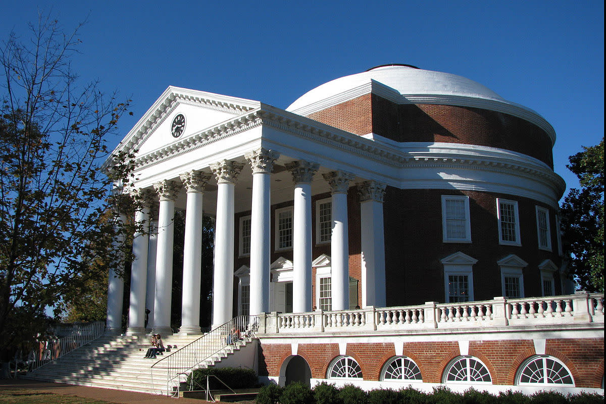 Thomas Jefferson designed several buildings, besides the Rotunda at the University of Virginia that is pictured here. His distinct style would become known as the Jeffersonian style