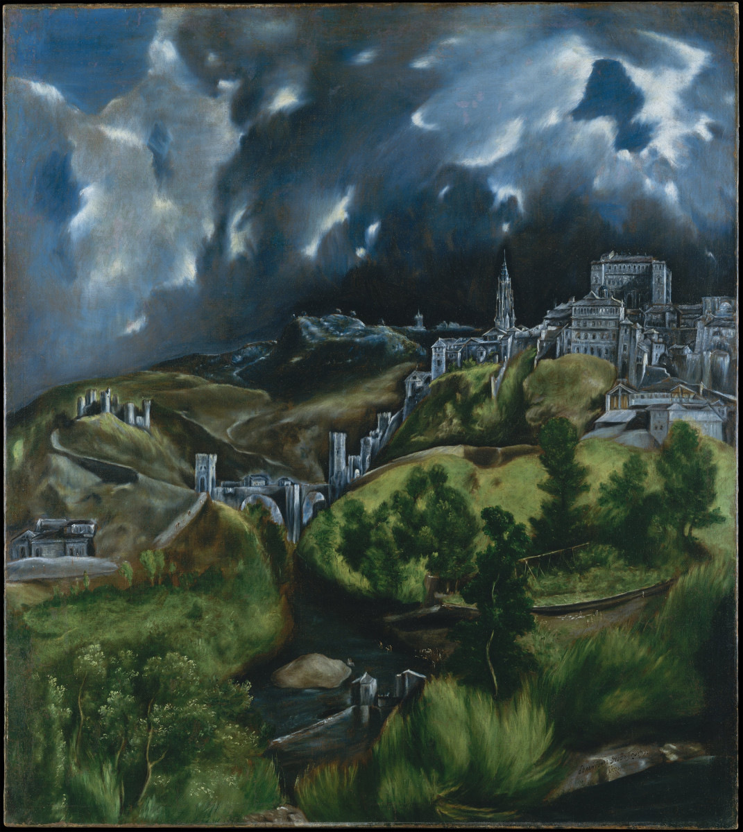View of Toledo, 1575. El Greco and Fray Juan were nearly the same age. He lived in Toledo at  very time of Fray Juan's imprisonment.
