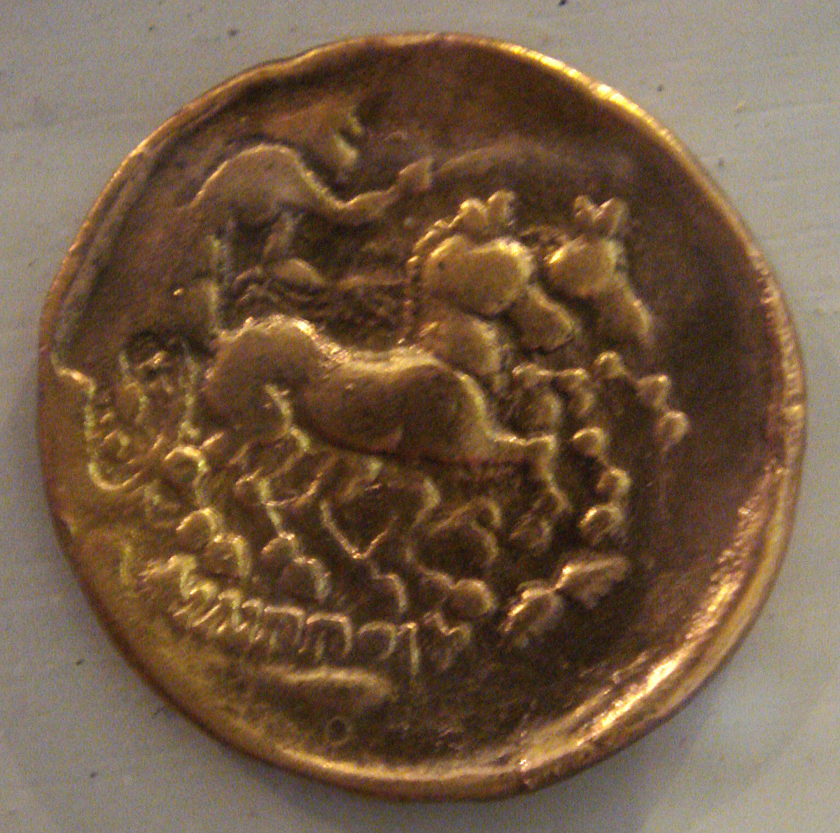Sequani coin depicting a horse