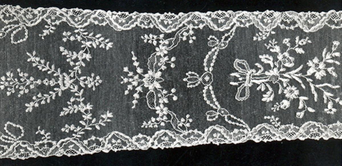 """Point d'Alençon, the """"queen of lace."""""""