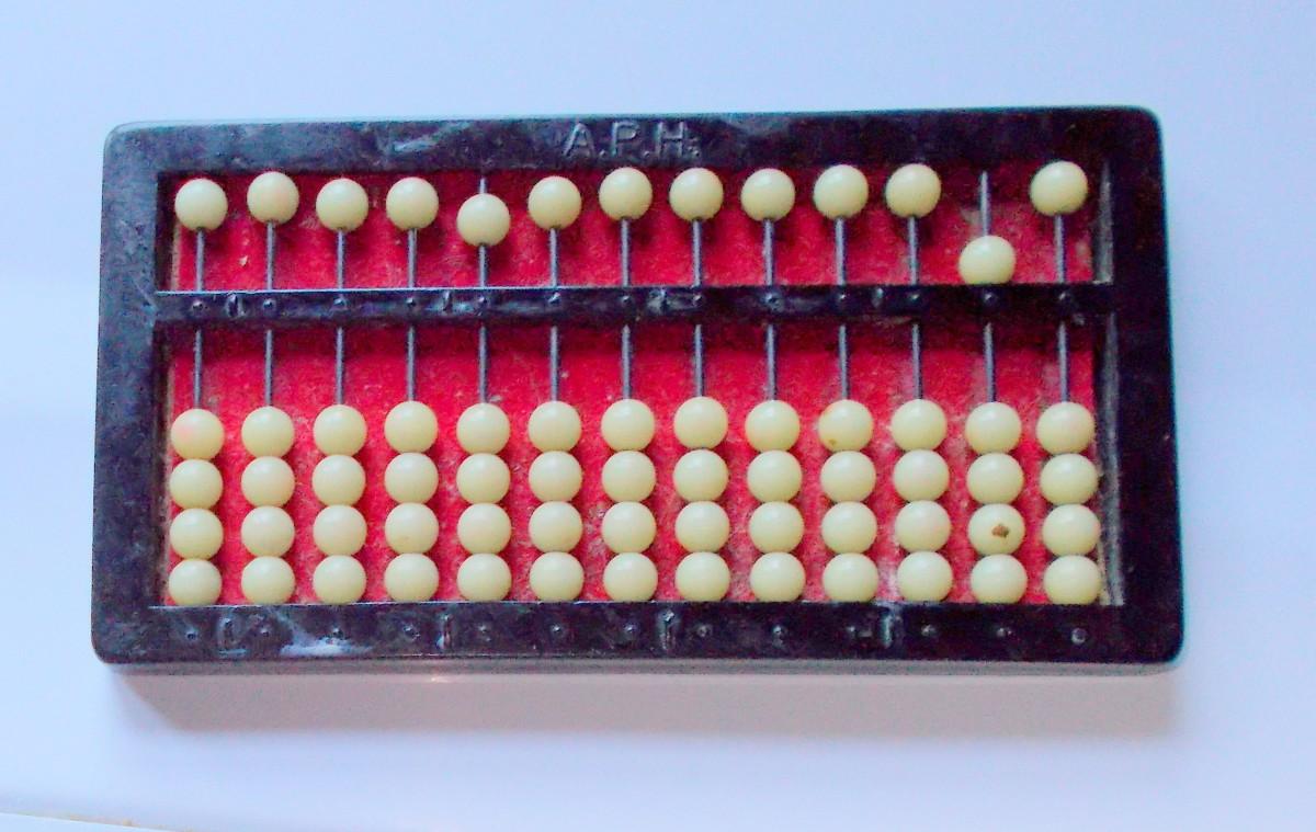 An abacus set at 50