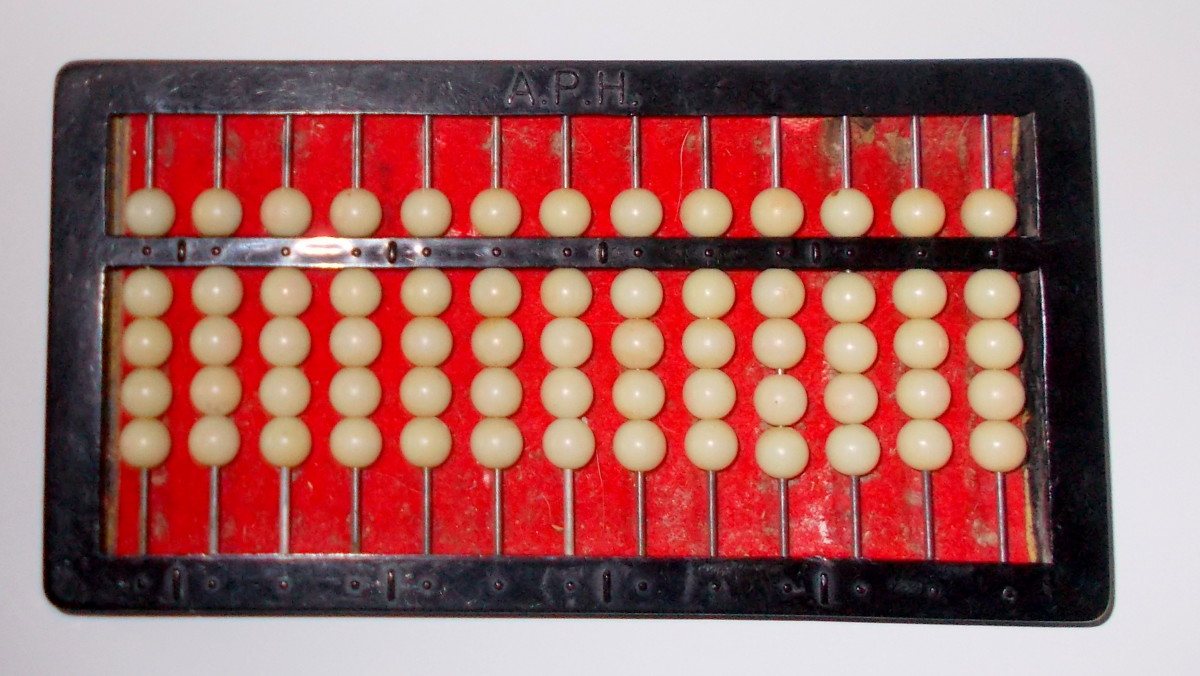 This is an abacus with all of the beads set.