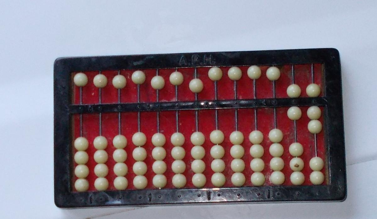 An abacus set at 67