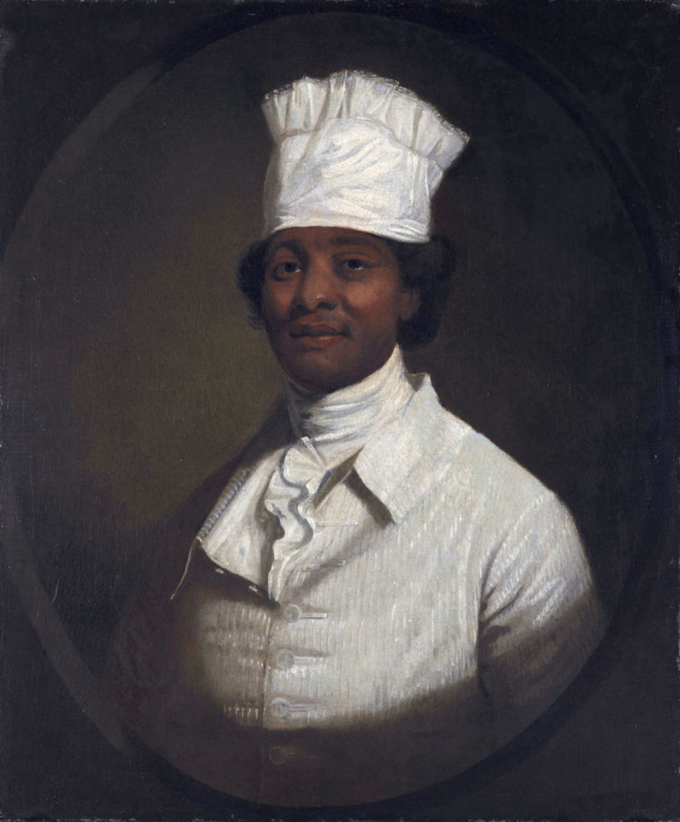 George Washington owned a slave who went by the name of Hercules. Hercules was a talented cook and had his portrait done by Gilbert Stuart.