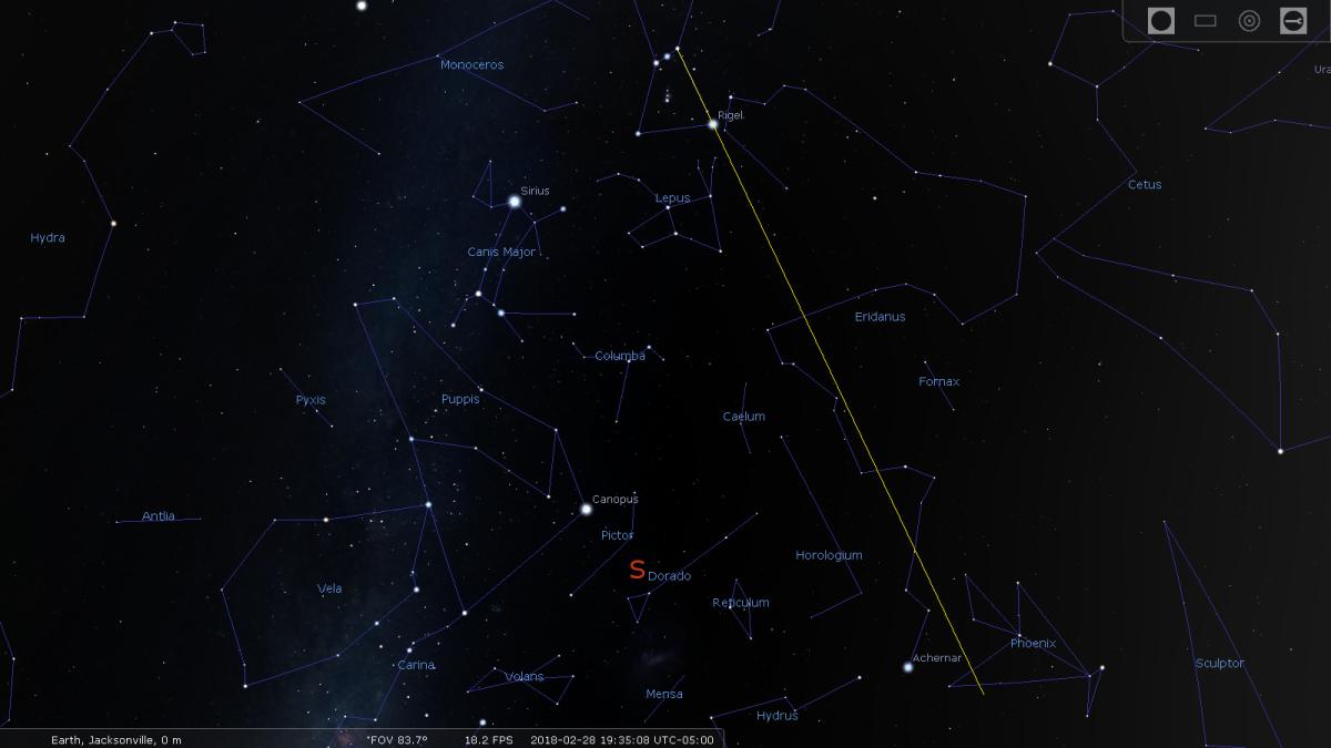 Image 4: the star Achernar