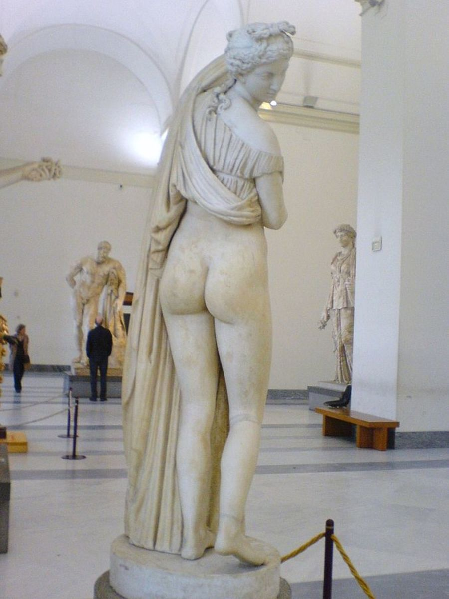 Yes, it's Venus not Aphrodite, but that is still a very shapely rear end.