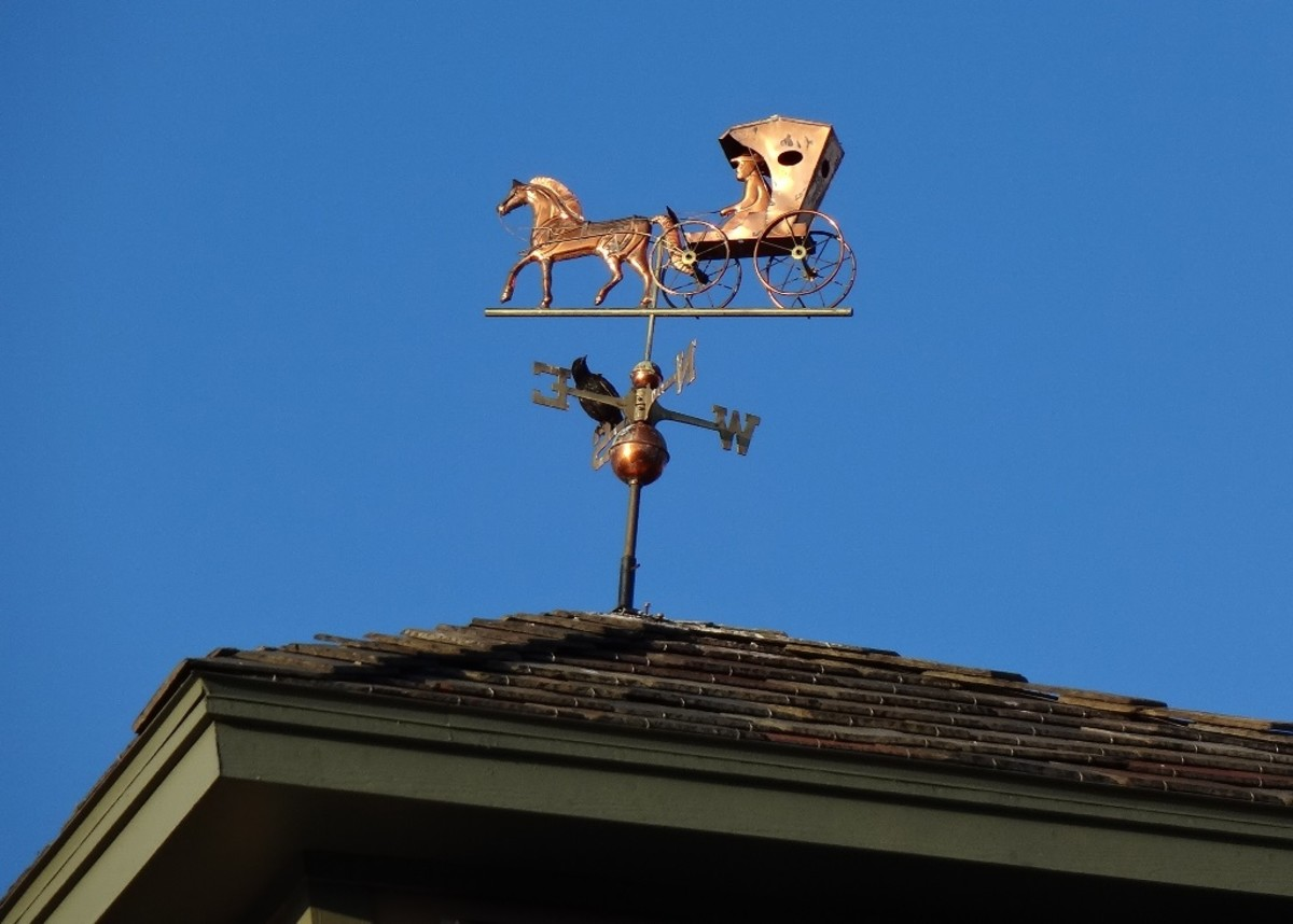 This weathervane sits atop the portico of a local Skilled Nursing and Rehab Center
