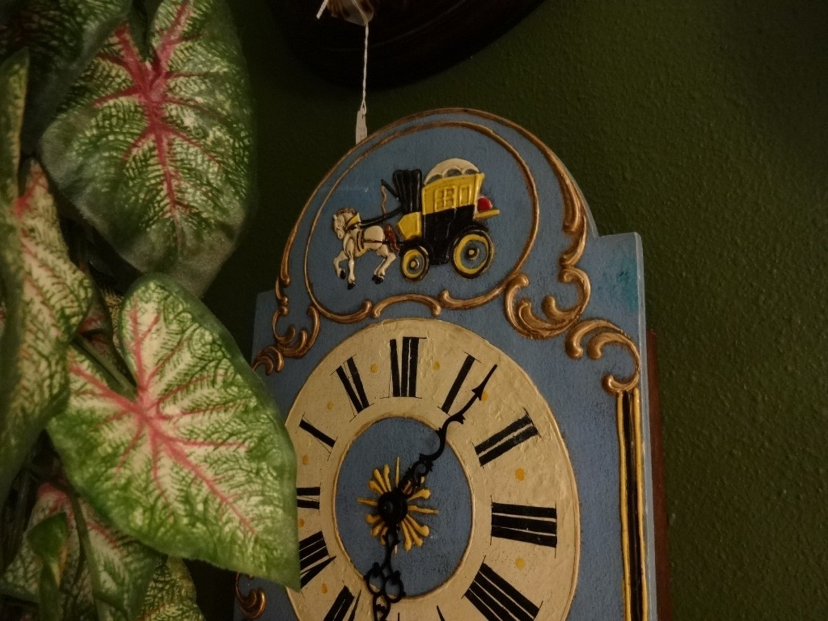 The Carriage Driver makes a journey across time on this vintage clock