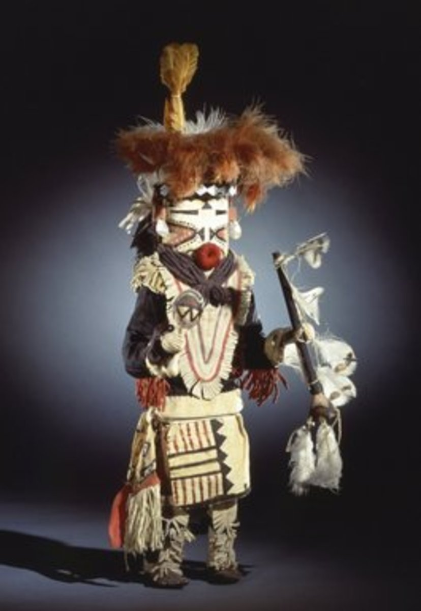 In recent times, the Zuni are very private, so I can only find descriptions (no pictures) of the Kolhamana Kachina. This is a Paiyatemu Kachina.