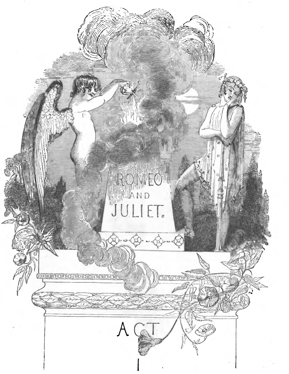 A fanciful drawing of Romeo and Juliet