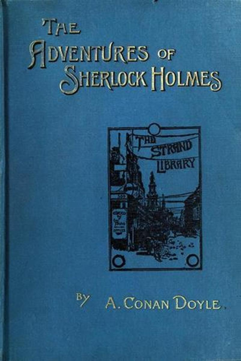 Cover of The Adventures of Sherlock Holmes, by Arthur Conan Doyle. First edition.