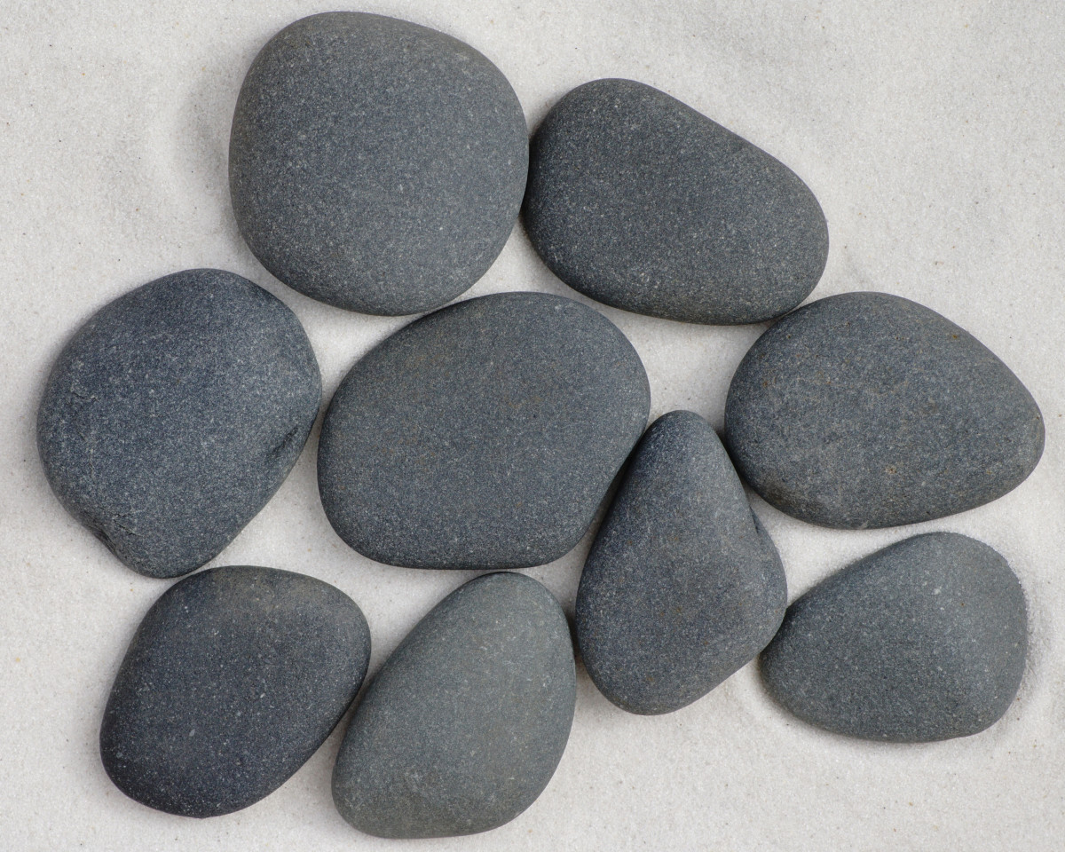 Beautiful Dark Grey Basalt - Lake Michigan Beach Stone