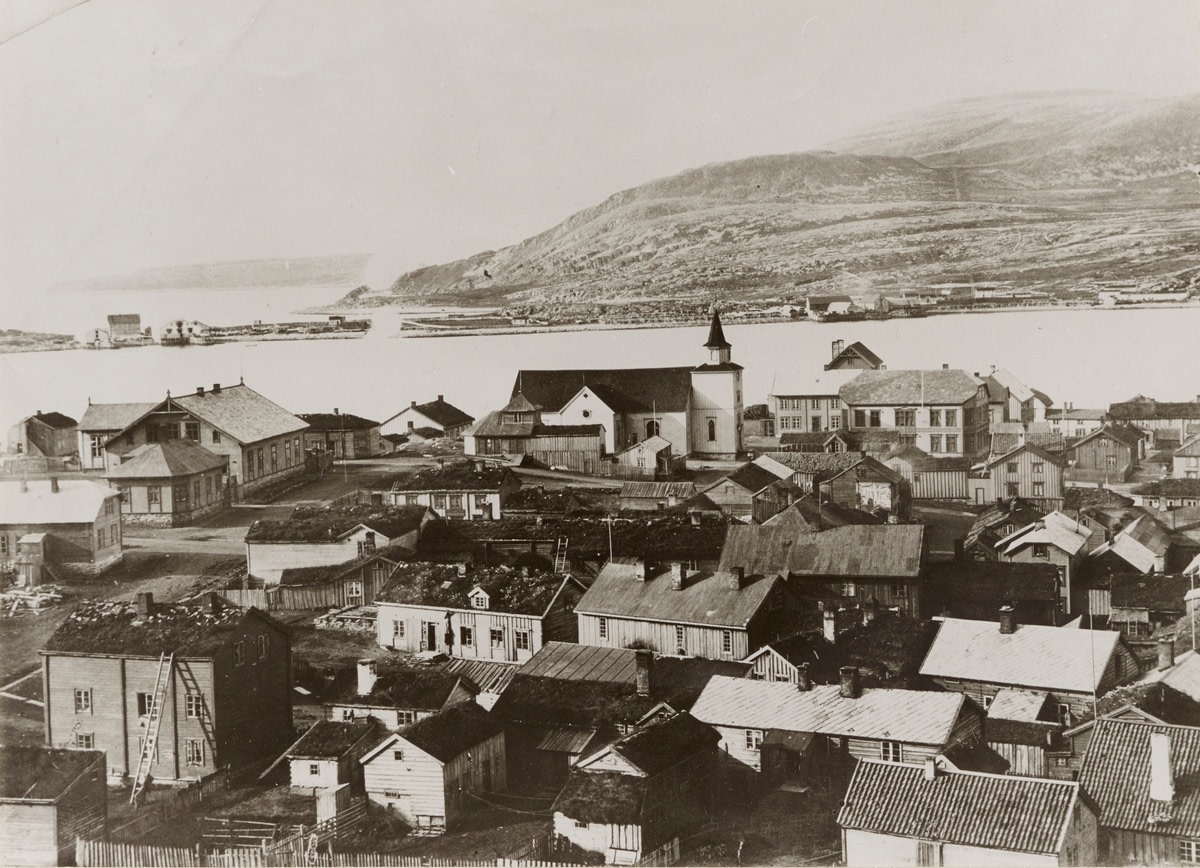 Hammerfest in 1880, before it was mostly destroyed by fire.