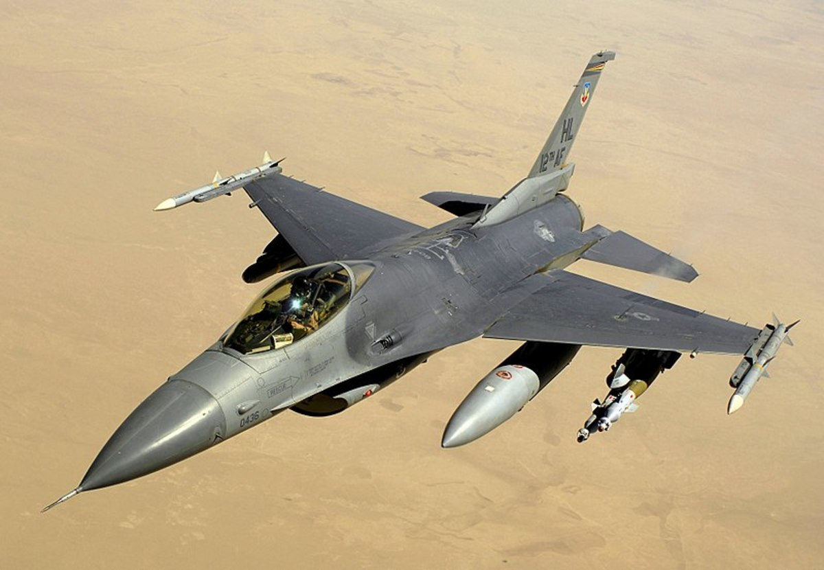 F-16. Unmanned version QF-16