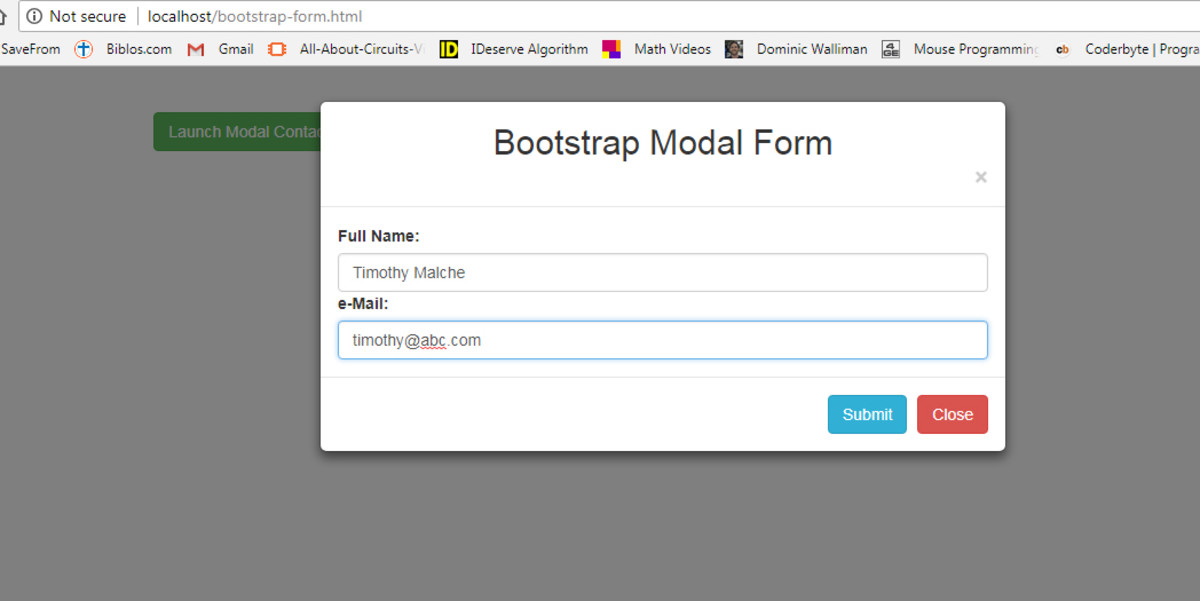 DIY PHP and Bootstrap: Using Bootstrap Modal Box to Receive