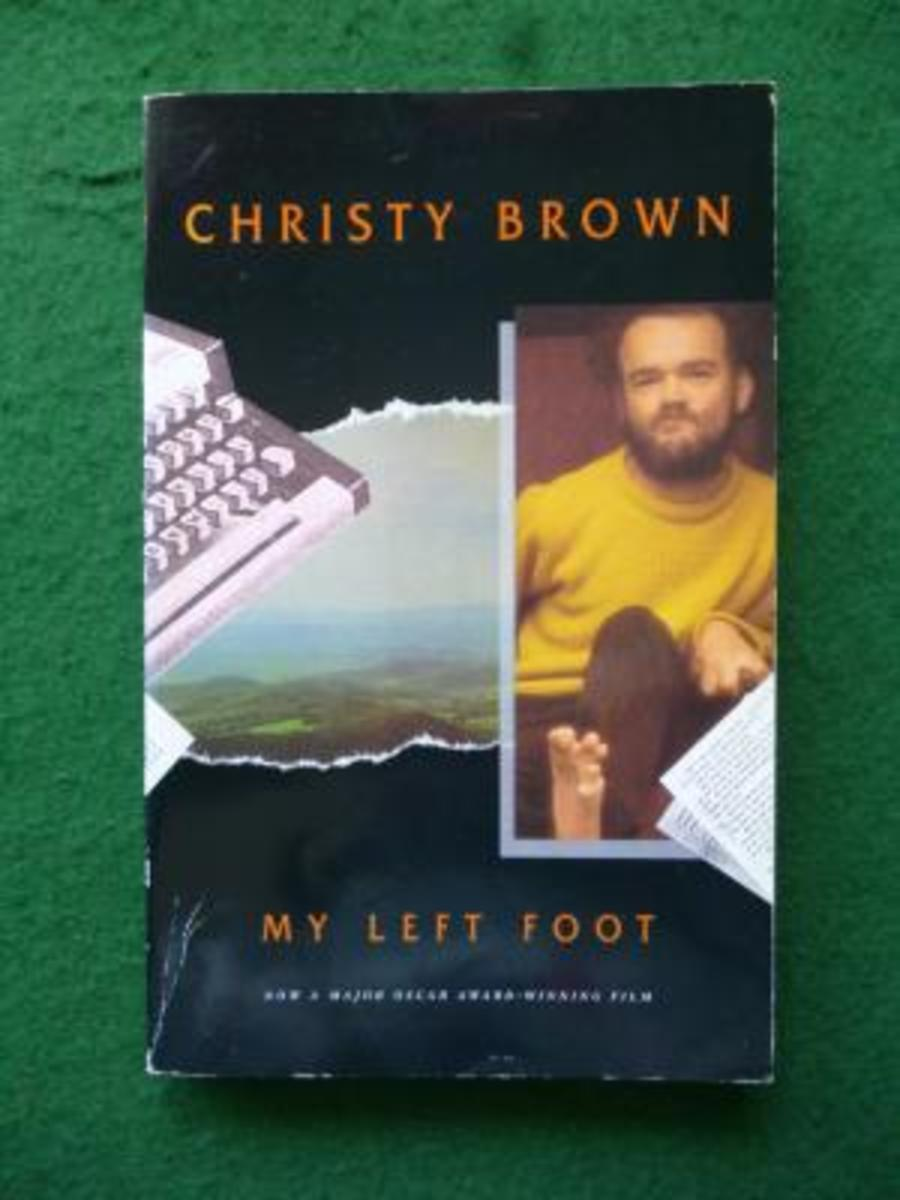 Copy of Christy Brown's book My Left Foot