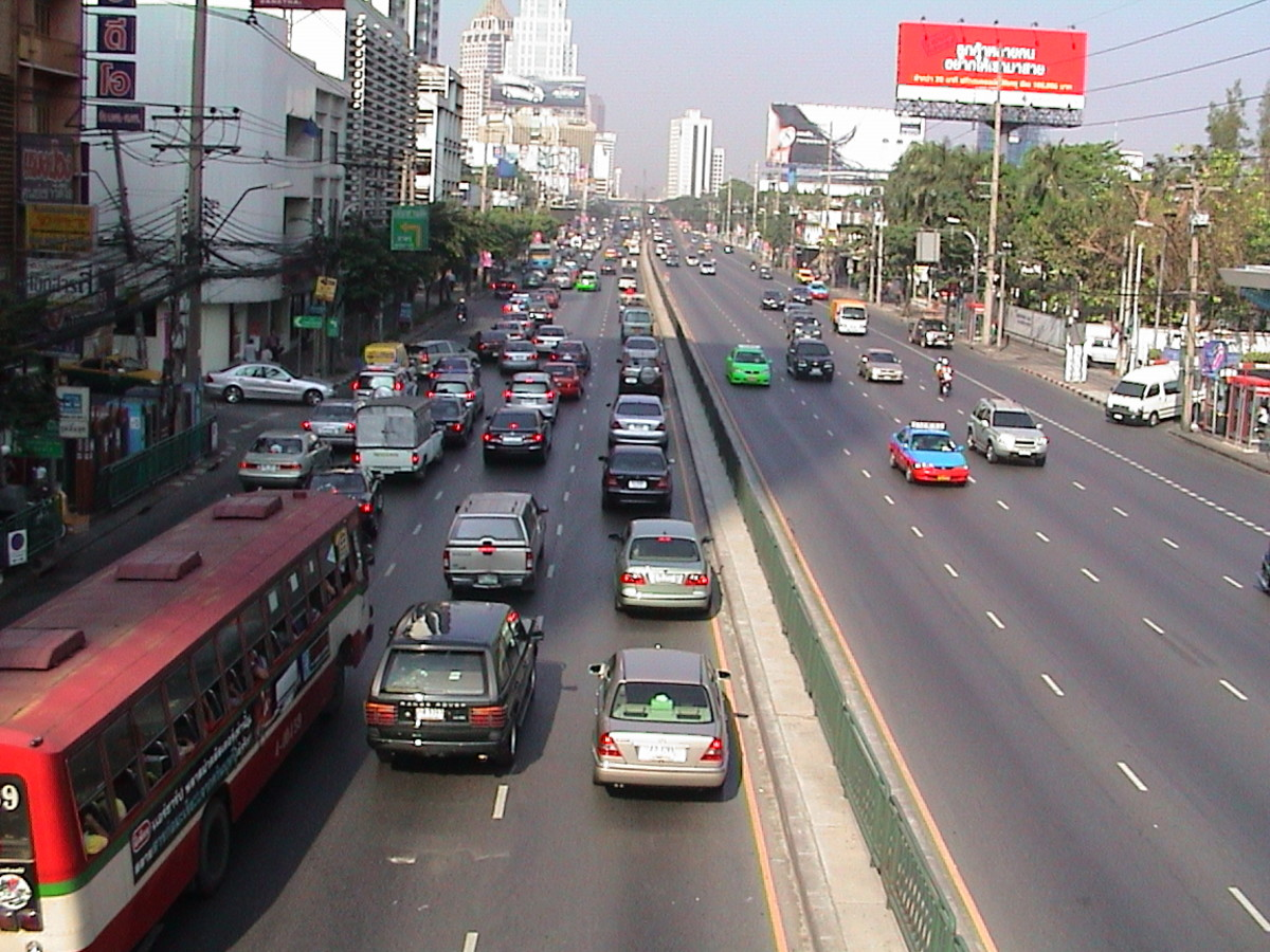 A dual carriageway in Bangkok or Krung-Thep if you're from there