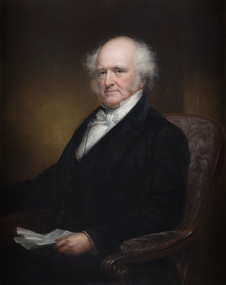 Gubernatorial portrait of Martin Van Buren by Daniel Huntington.