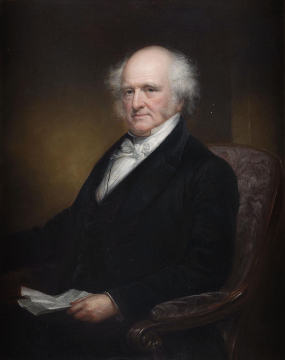 Gubernatorial portrait of Martin Van Buren by Daniel Huntington.