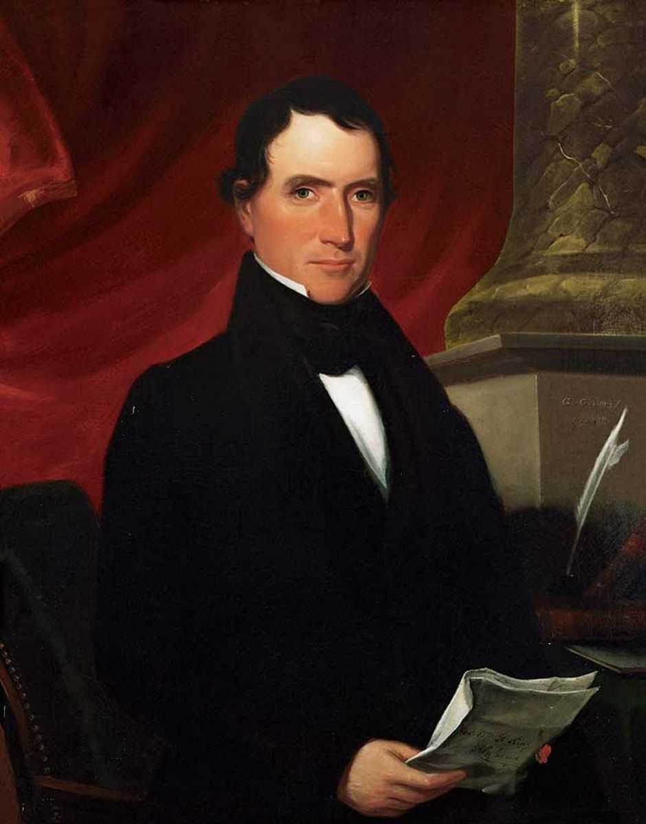 Portrait of William Rufus King, painted by George Cooke in 1839