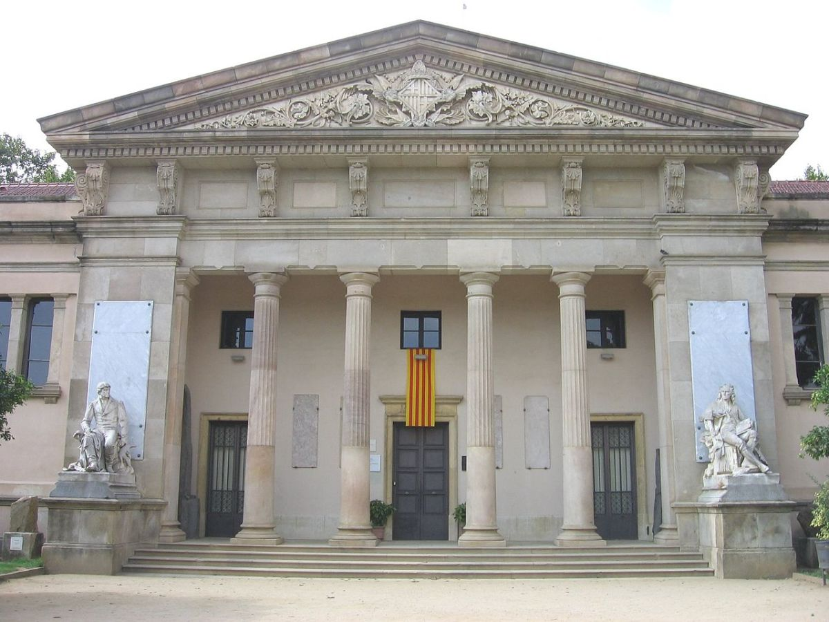 The façade of the Martorell museum, still there.
