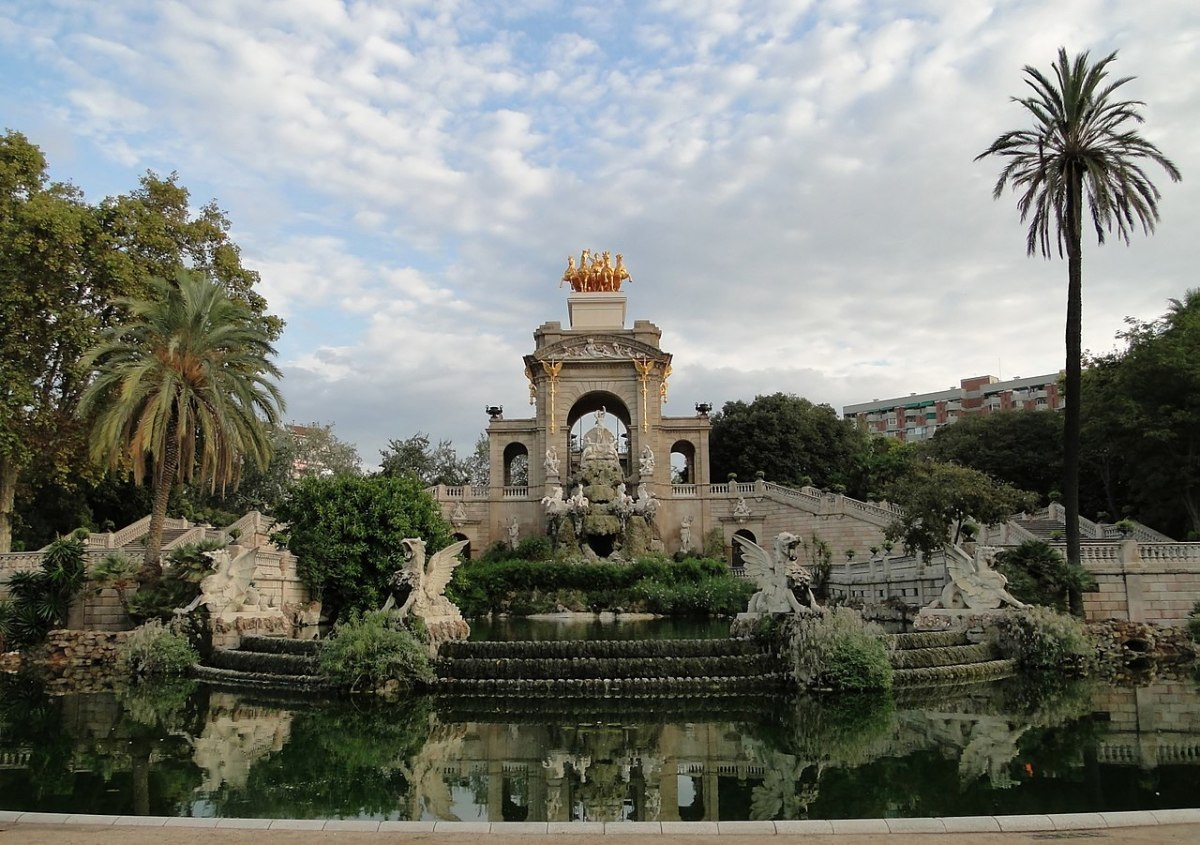 The centerpiece of the parc, its fountain.