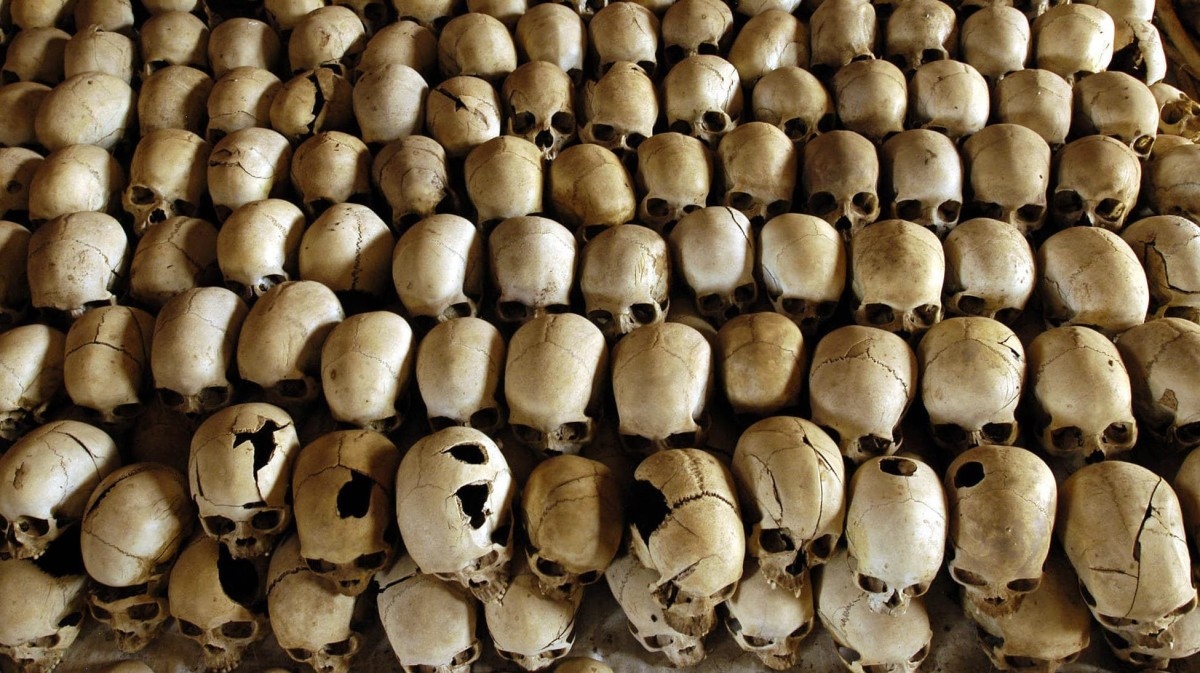 Skulls Discovered of Victims of the 1994 Genocide