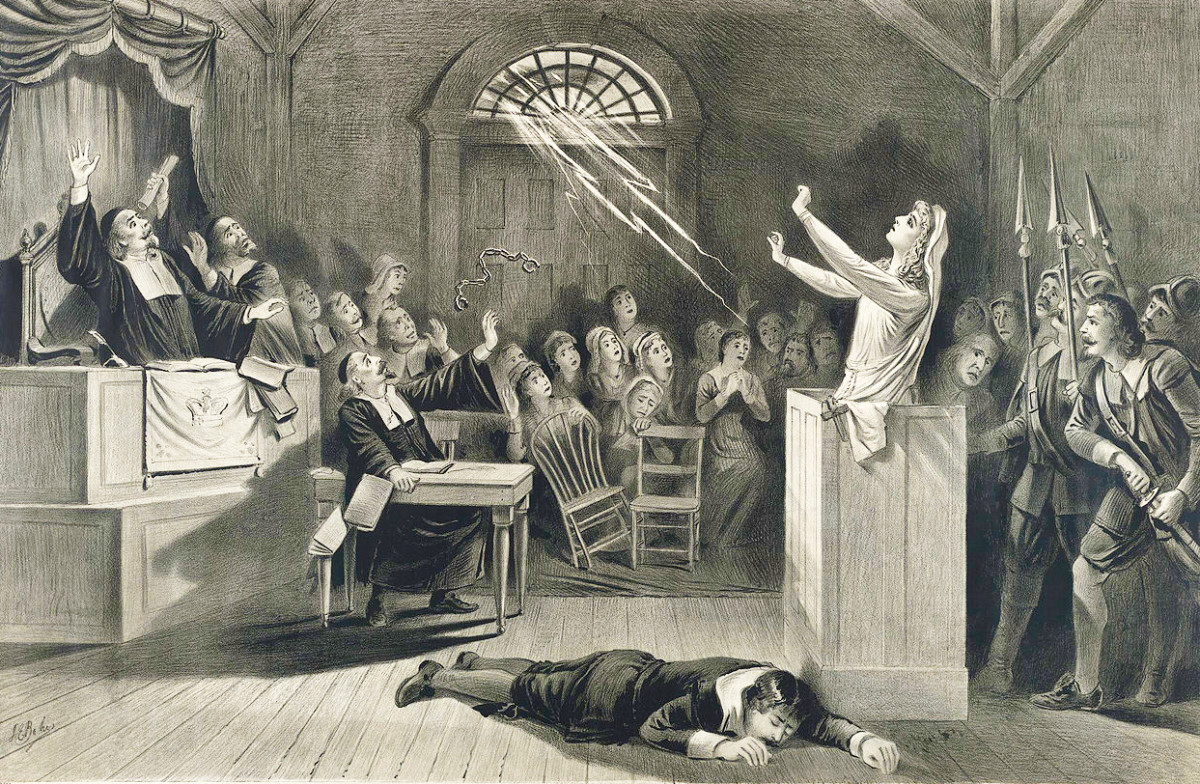On trial for witchcraft