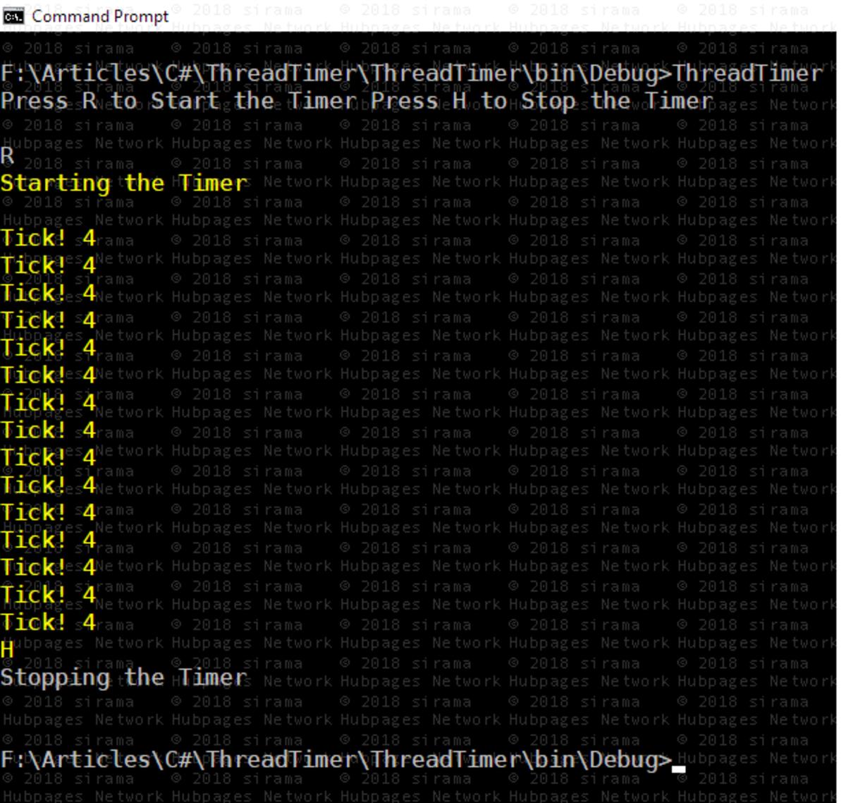 Timer Callback Executed Single Thread