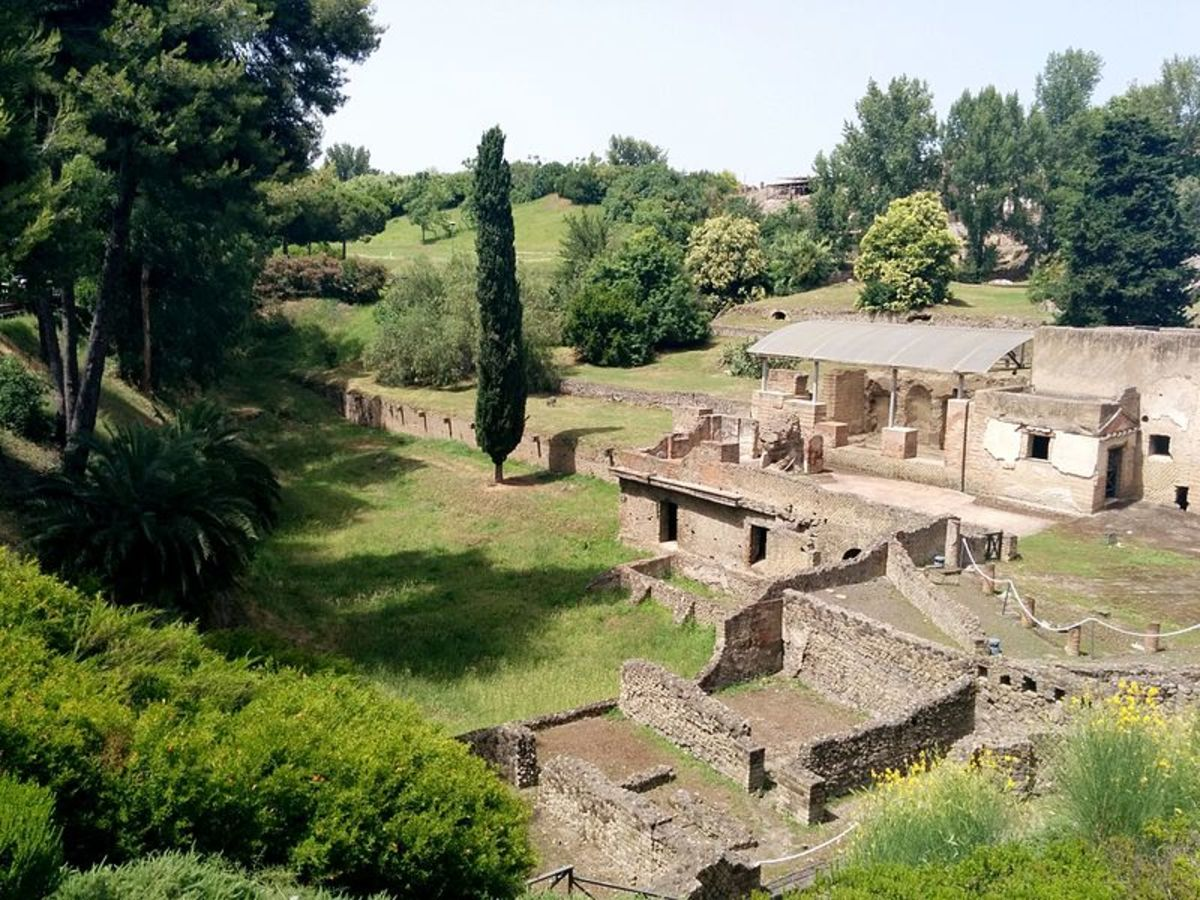 Pompeii had many baths, some elaborately designed. These are the city's suburban bathing complex.