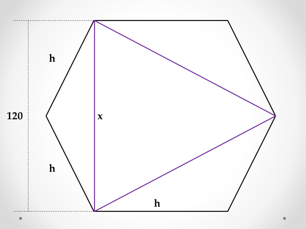 Equilateral Triangle Inscribed in a Hexagon