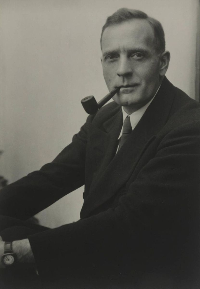A photograph of Edwin Hubble
