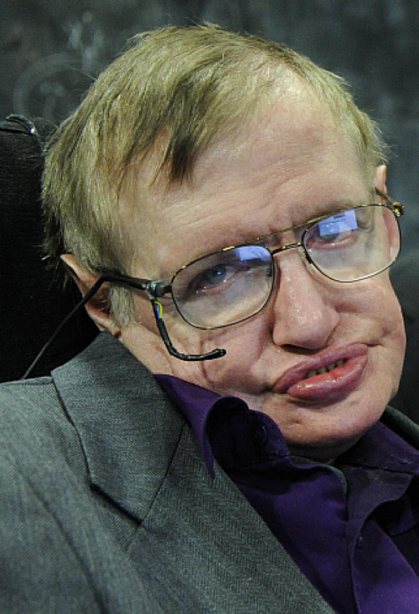 A photograph of the late Stephen Hawking