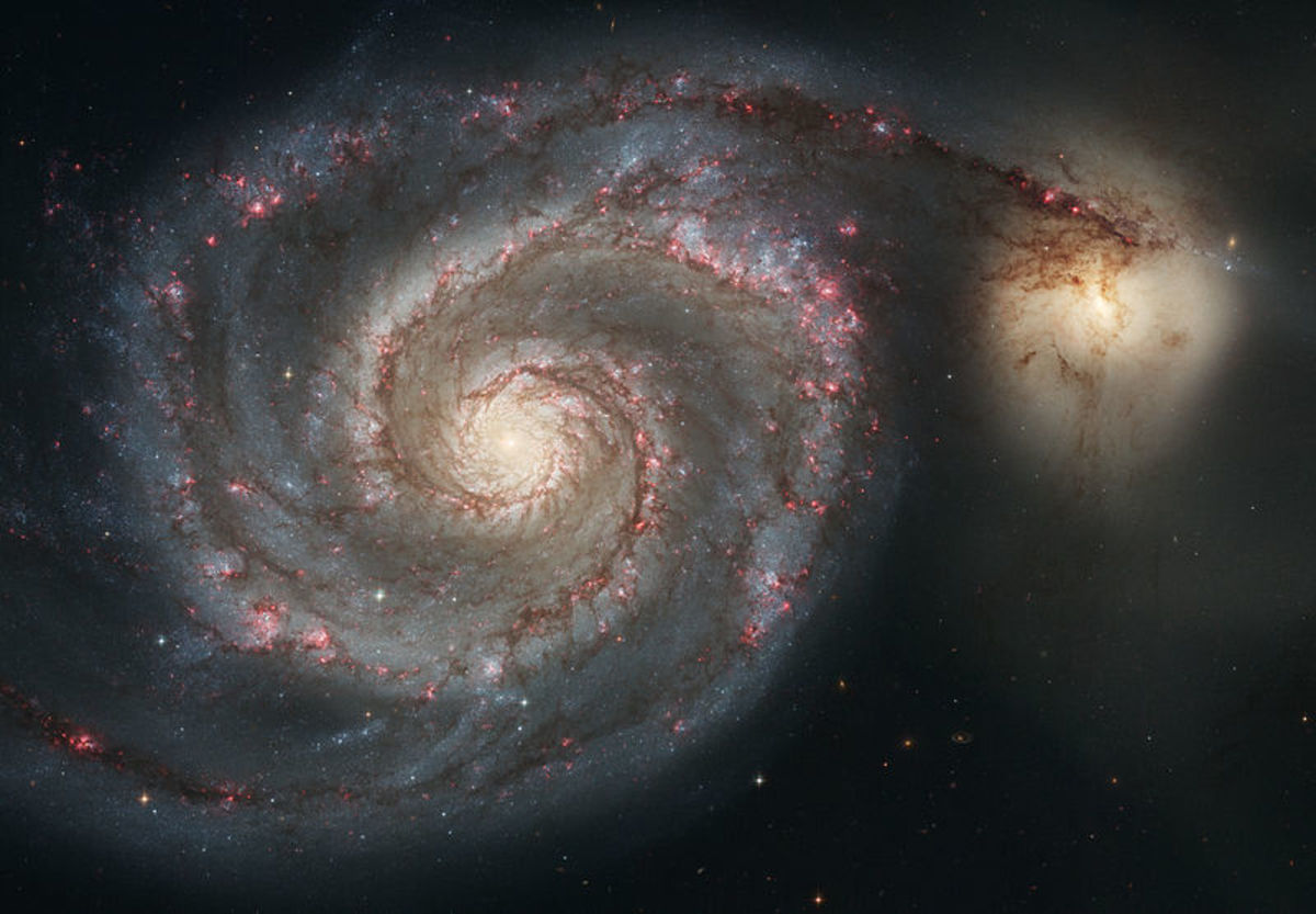 Images of spiral galaxies taken by the Hubble Telescope