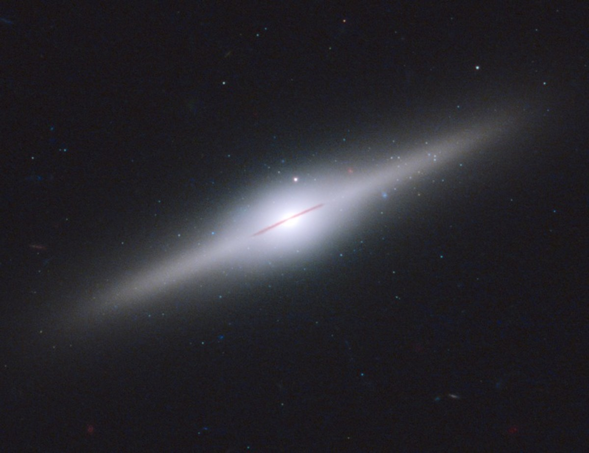 An image of the cannibal galaxy named ESO 243-49