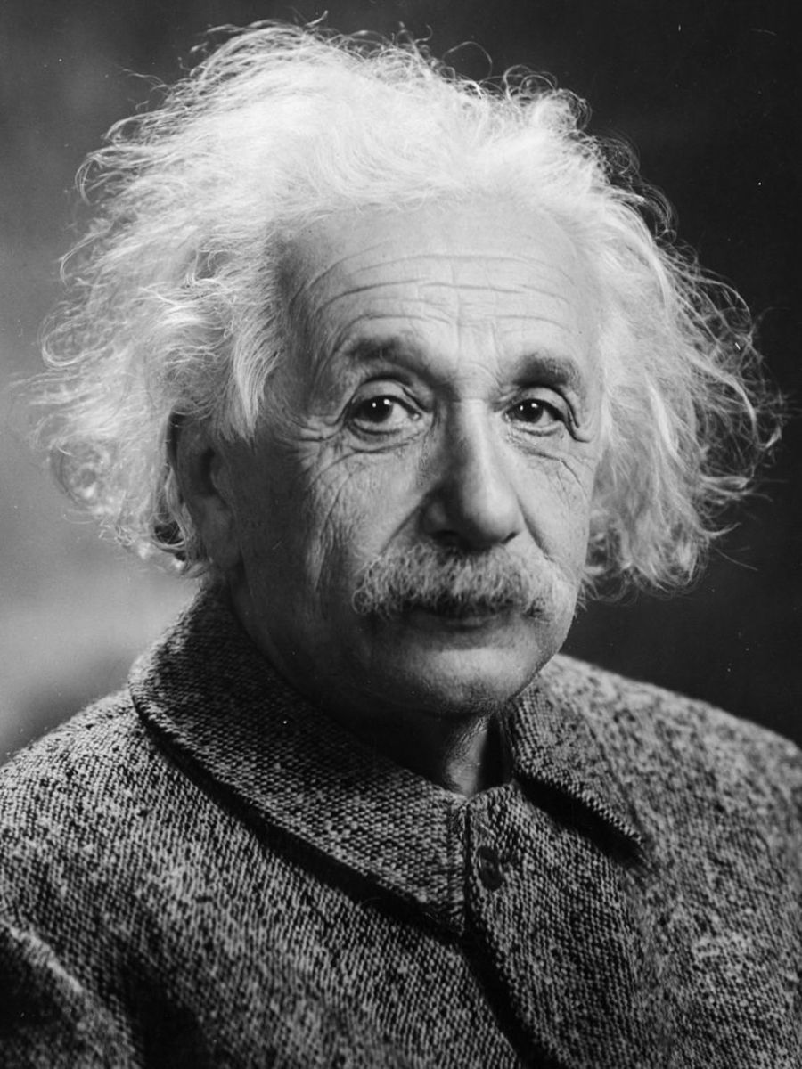 A photograph of the physicist, Albert Einstein