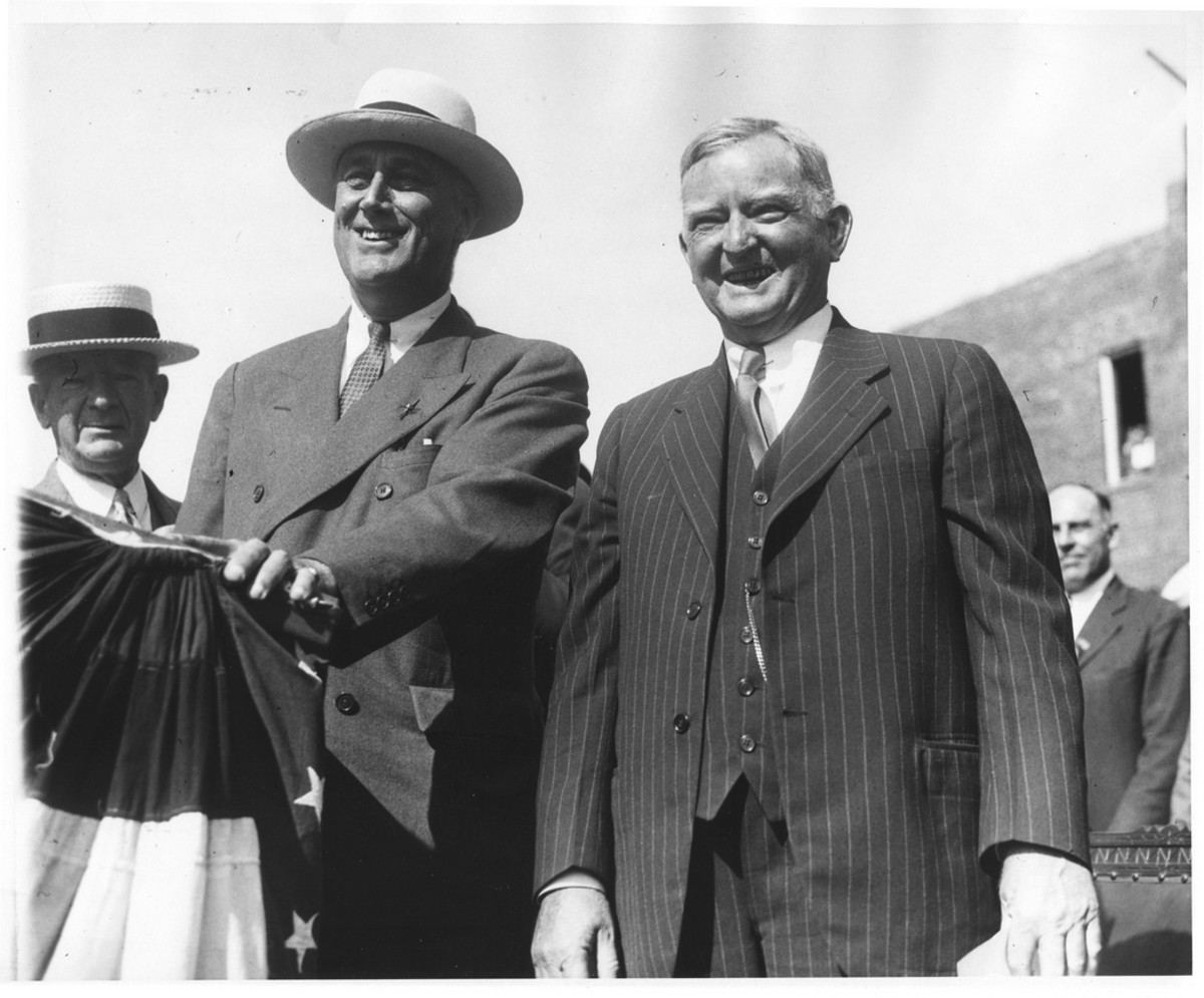 FDR - with John Nance Garner campaigning in Peekskill, New York. August 14, 1932