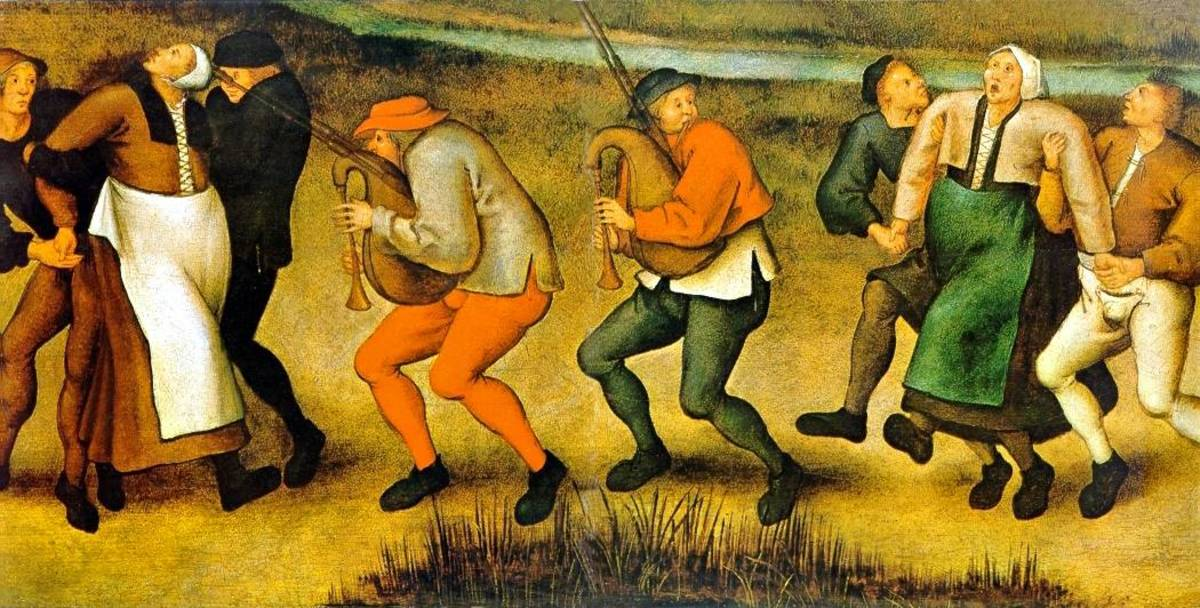 Music was typically played during outbreaks of dancing mania, as it was thought to remedy the problem.