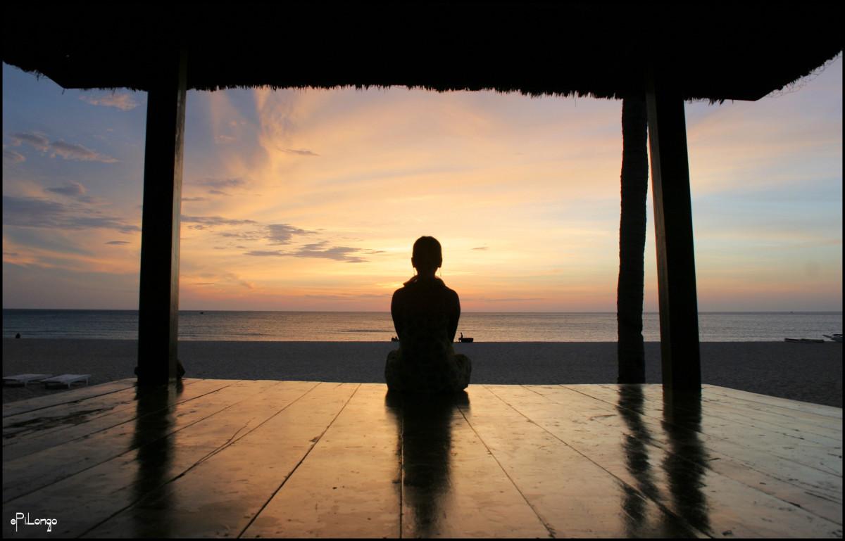 A Buddhist meditating. courtesy ePi.Longo