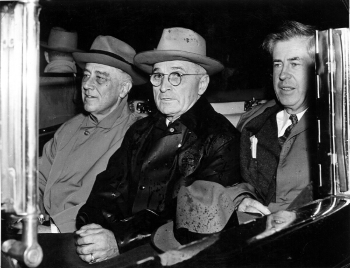 Franklin D. Roosevelt (left), Harry Truman, and Henry Wallace.