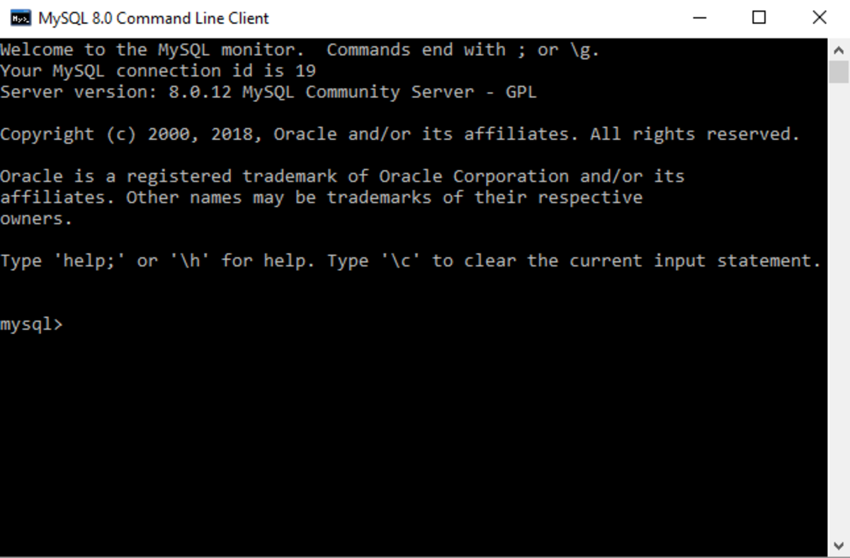 Use your root password every time you access the command line (for now).