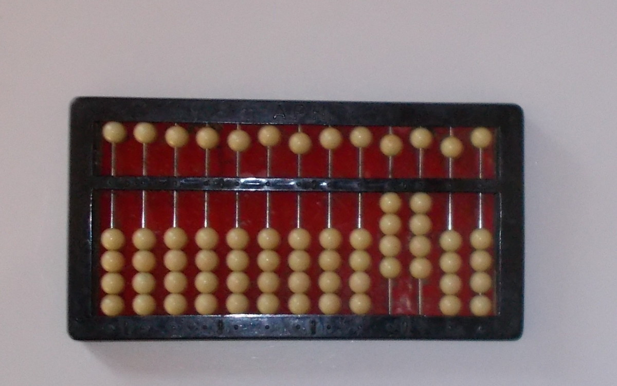This abacus is showing the quotient 44.