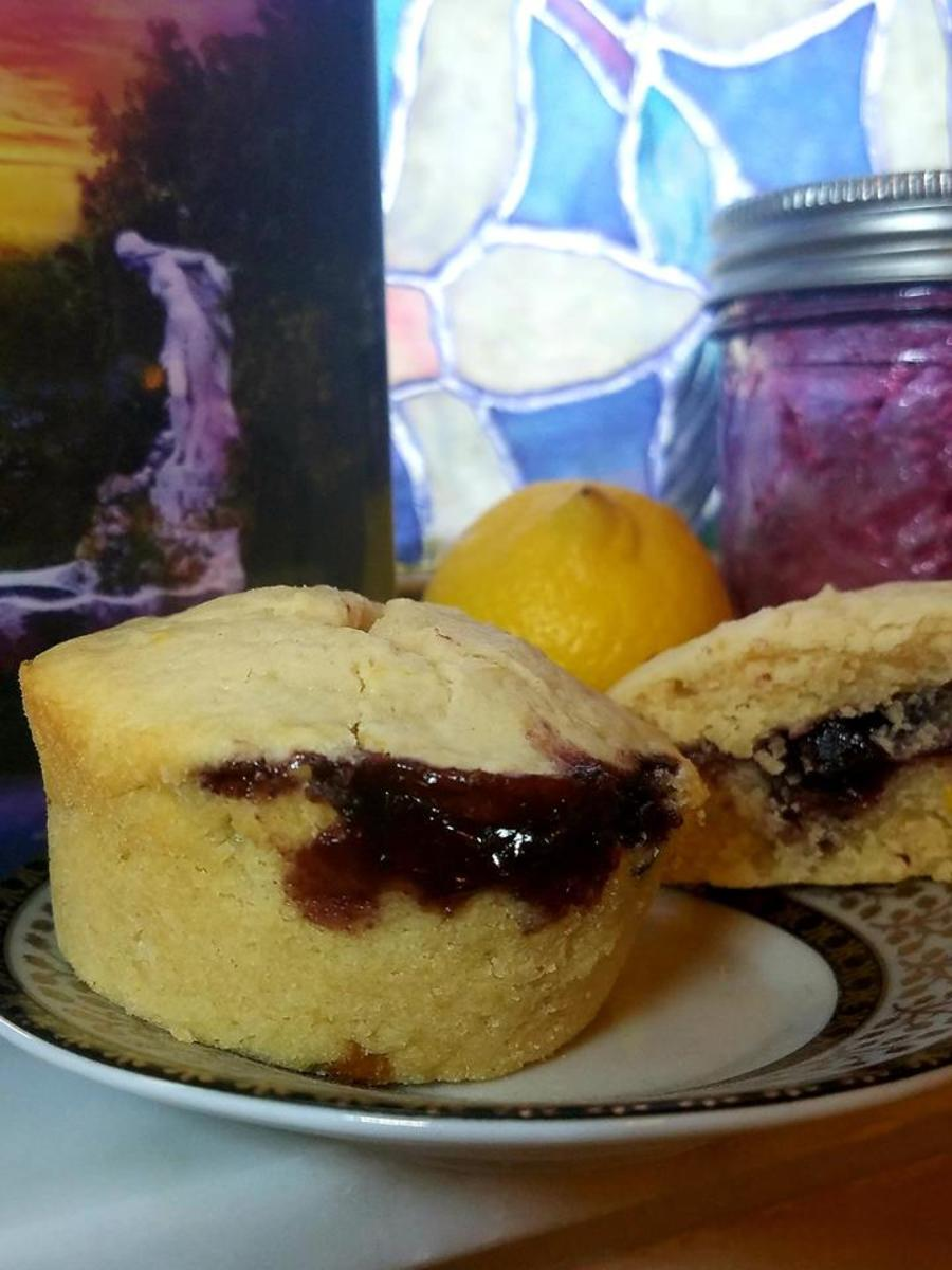 tiffany-blues-book-discussion-and-lemon-with-blueberry-jam-muffins-recipe