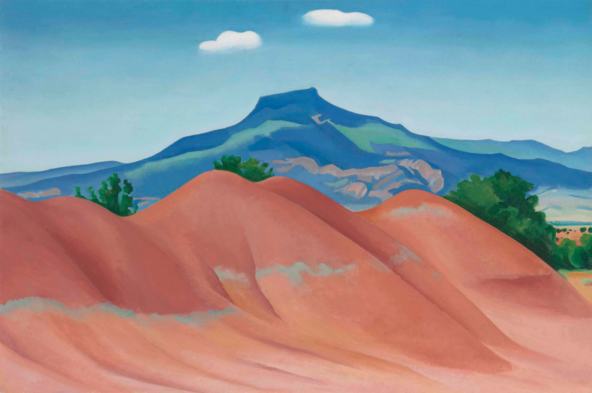 The Cerro Pedernal in New Mexico, as rendered by Georgia O'Keefe is a classic example of an extinct volcano.