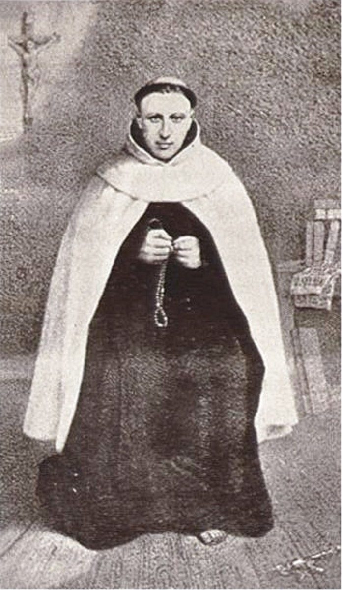 Hermann in his Carmelite habit