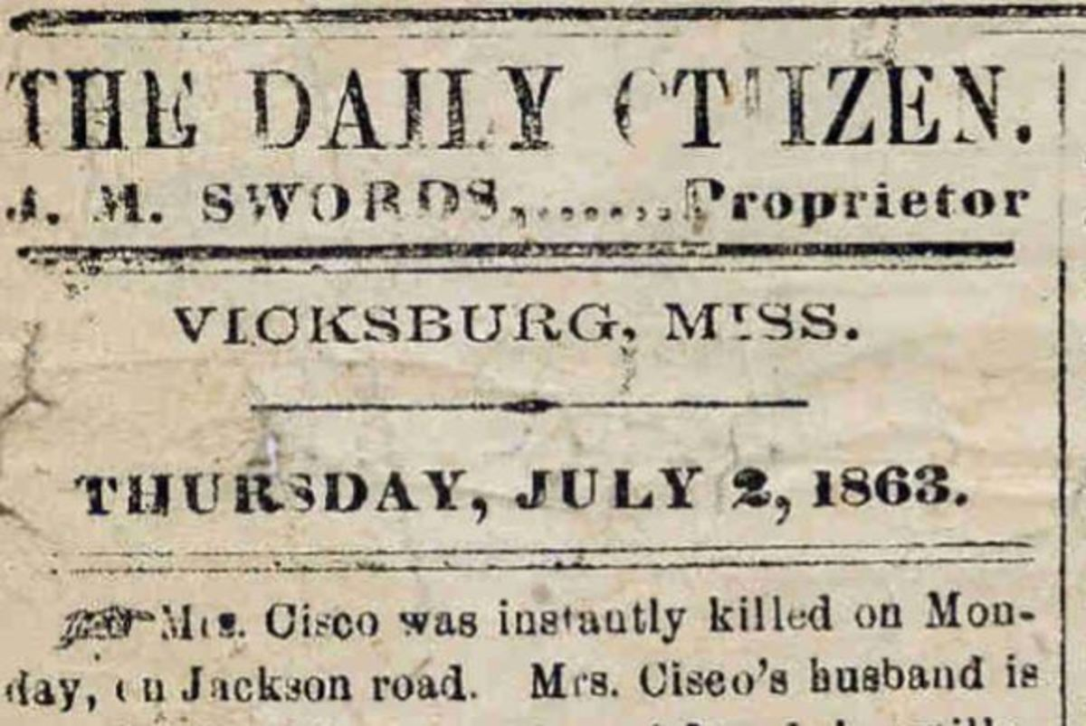 The Vicksburg Daily Citizen, July 2, 1863.
