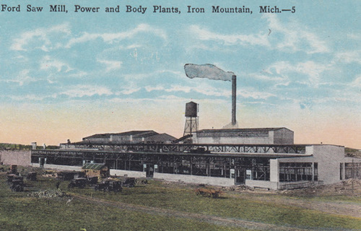 Ford's sawmill and parts factory at Iron Mountain, Michigan.