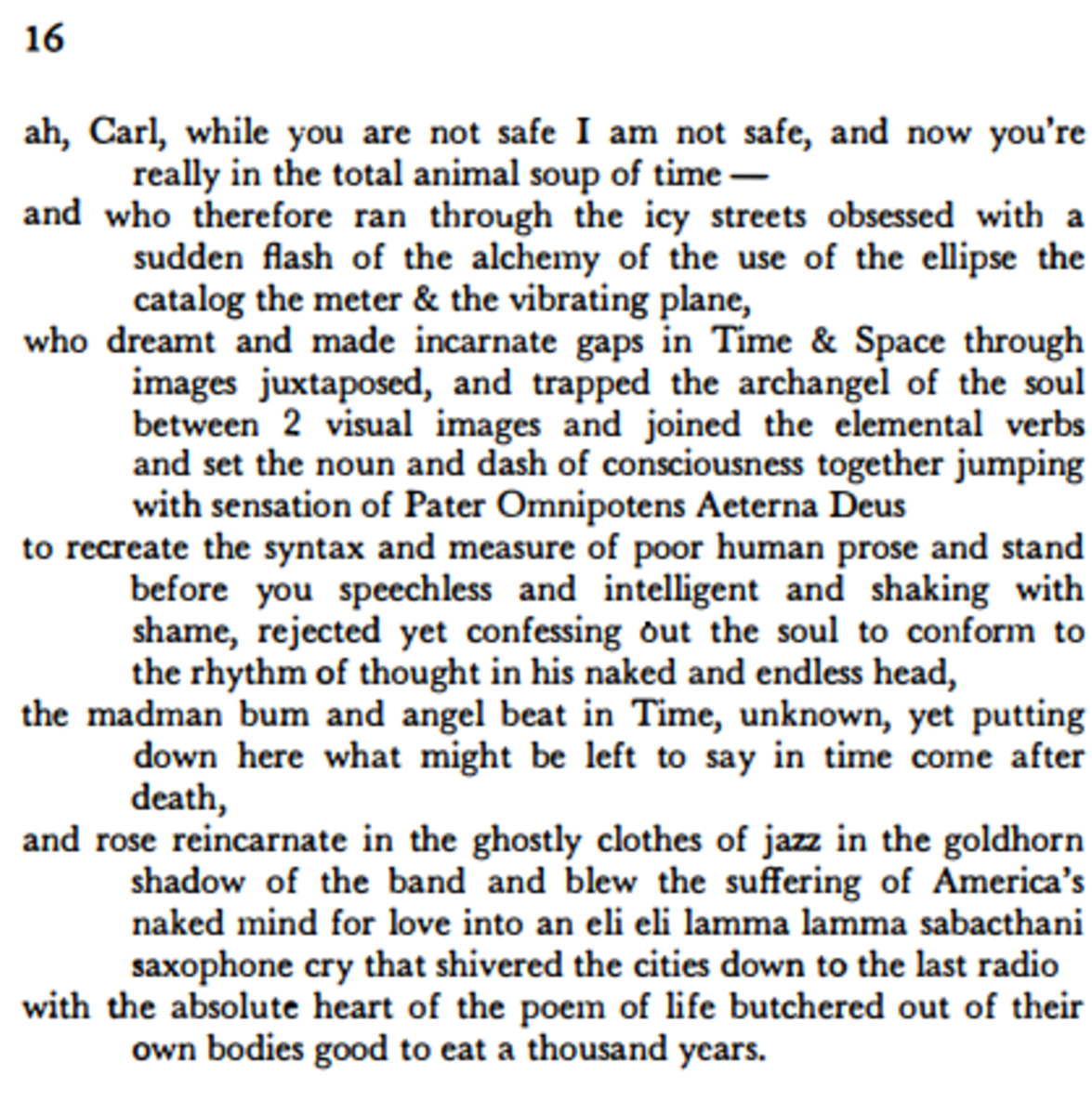 howl poem summary