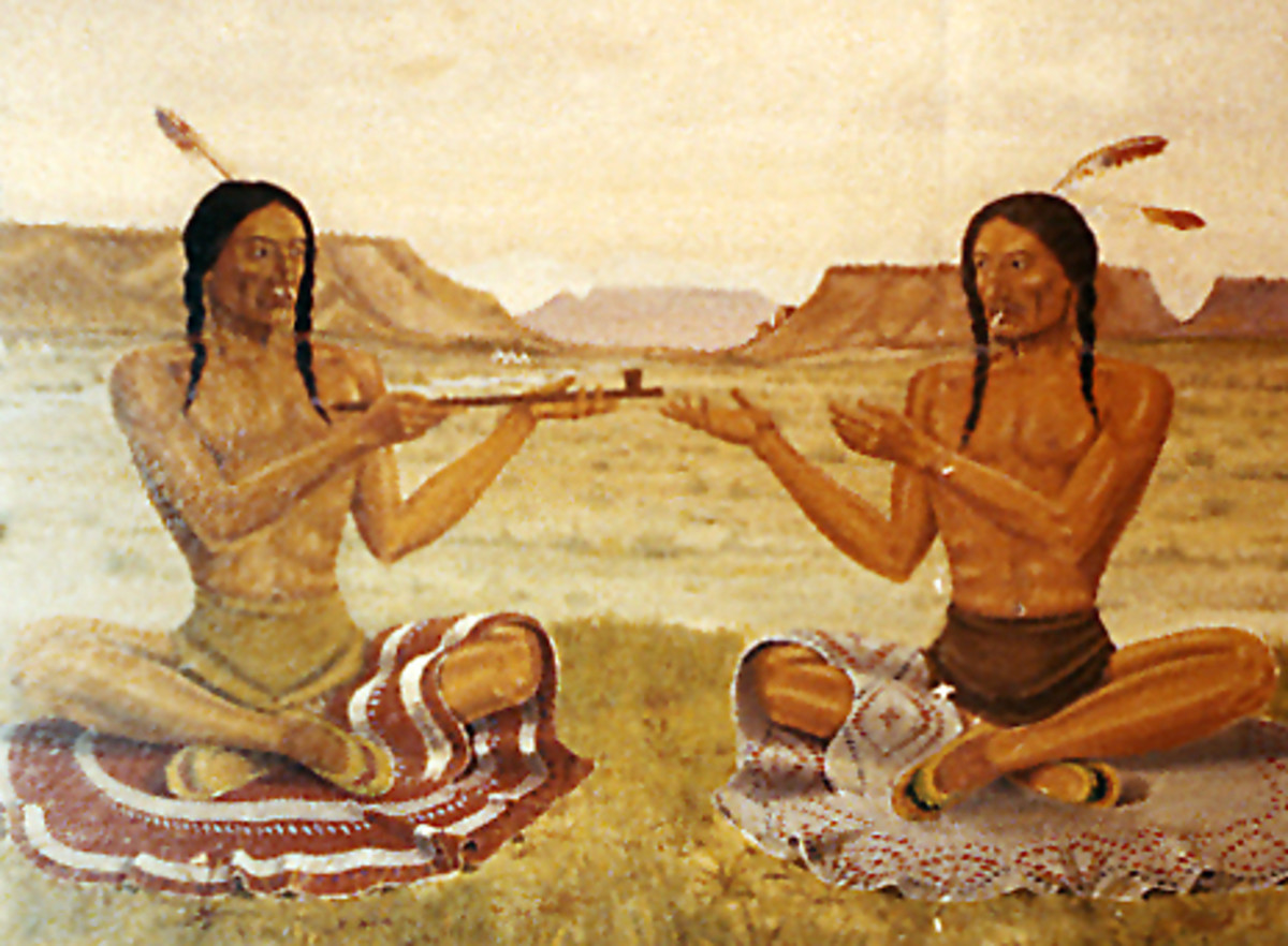 The peace pipe is a sacred part of North American Native culture.