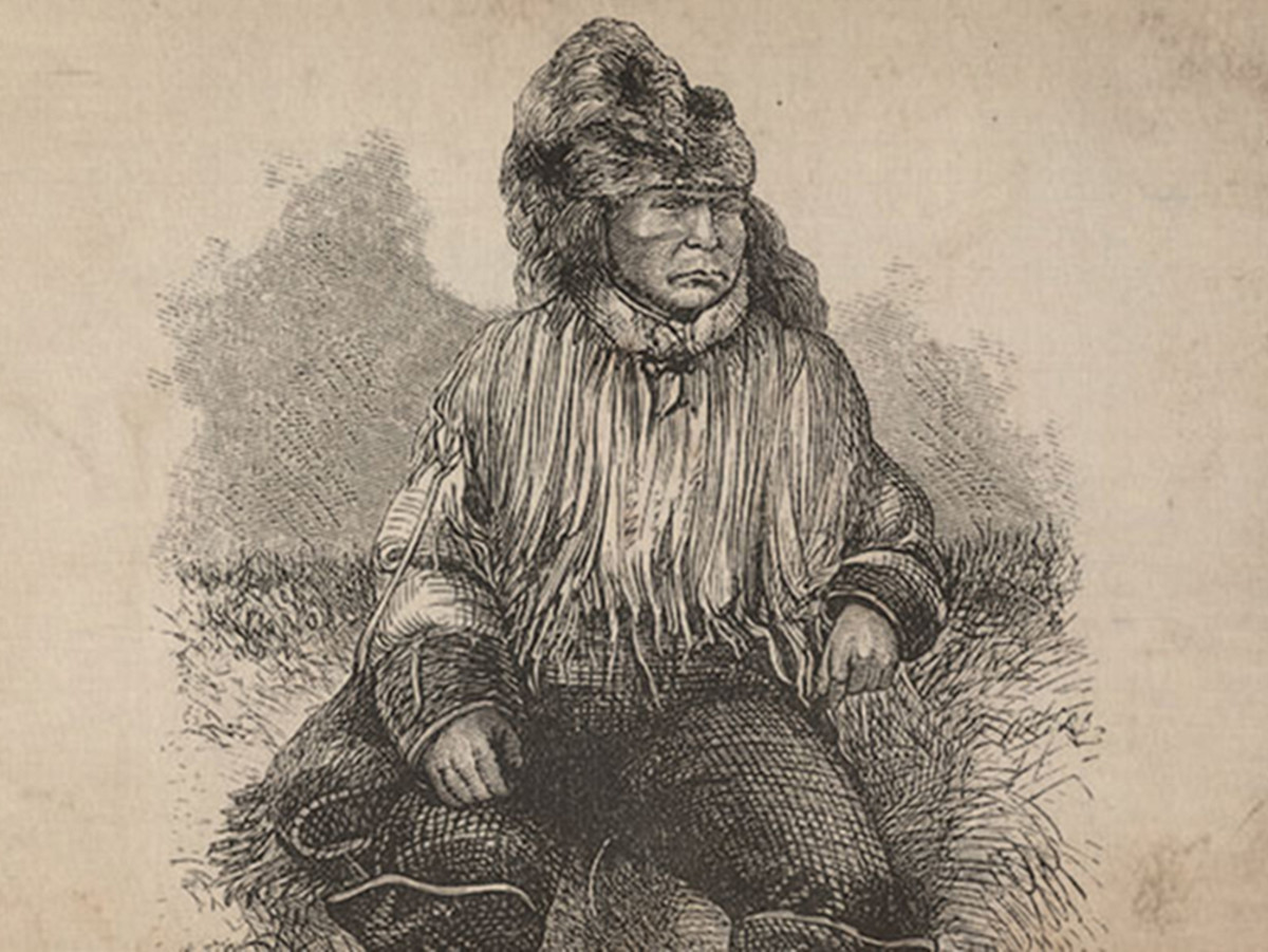 This sketch is thought to be of Chief Klatsassin.